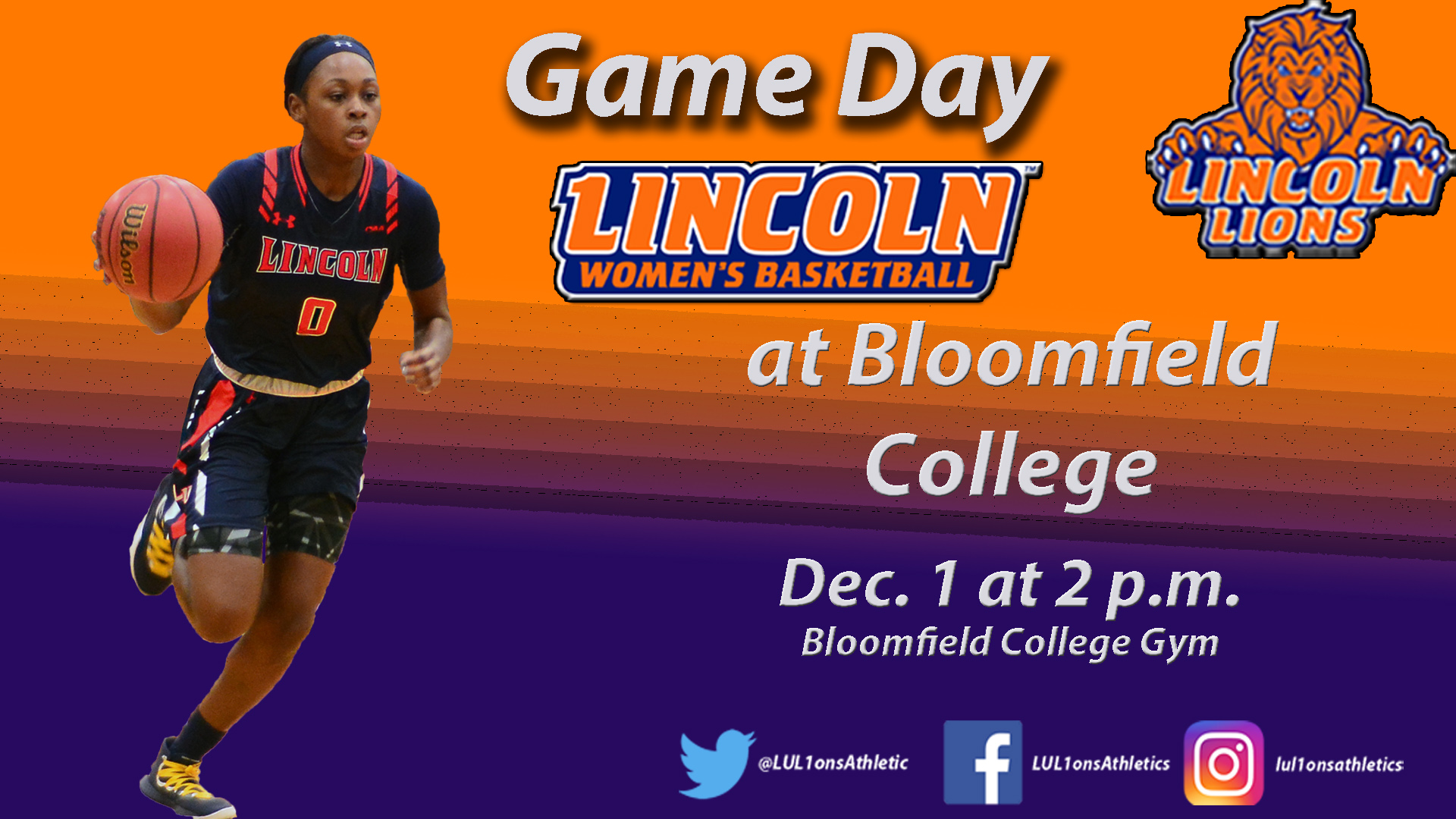 Lions On the Road to Face Bloomfield College - Lincoln University ... c15ea076e